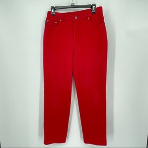 Vintage 90's Ralph Lauren high waisted red jeans